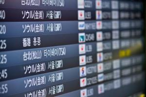 20150426 羽田空港の電光掲示板